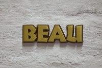 """Aluminium Schriftzug """"Beau"""""""