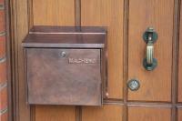 Ein Schmuckstück - Standart Briefkasten mit Kupfer Folie beklebt ...