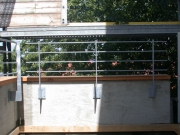 Absturzsicherungen für die Baugenossenschaft Wiederaufbau, Stahl verzinkt