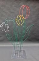 Bunte Blumen aus 5 mm Stahldraht