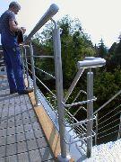 Dachterrasse mit einem Brüstungs Geländer aus Edelstahl