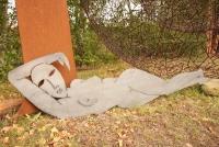 Skulpturen aus Stahlblech plasmagetrennt