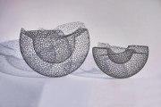 Doppelwandige Schale aus 1 mm Stahl Draht