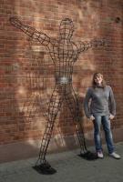 Skulptur aus 12 mm Rundeisen für BollmannGrip, Fa. Bollmann in Remscheid