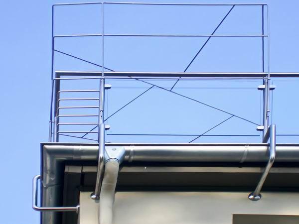 Rankgitter aus Schmitzstruktur an einem Balkongeländer