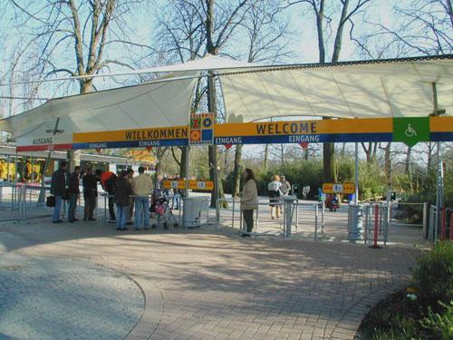 Eingangsanlage Mit Berdachung Zoo Hannover