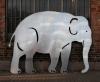 feuerverzinkter Elefant aus 3 mm Stahlblech