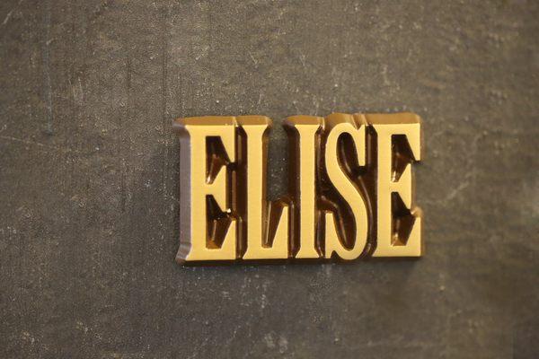 """Aluminium Schriftzug """"Elise"""""""
