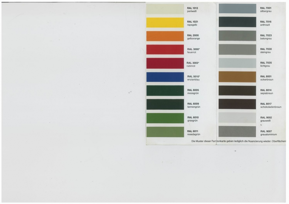 verf gbare farben f r eine lackierung auf feuerverzinktem. Black Bedroom Furniture Sets. Home Design Ideas
