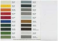 Verfügbare Farben für eine Lackierung auf feuerverzinktem Stahl