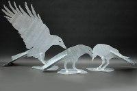 feuerverzinkte Vögel aus 3 mm Stahlblech