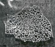 flache Schale aus Stahl