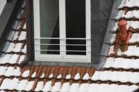 Französischer Balkon aus lackiertem und feuerverzinktem Stahl