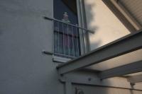 französischer Balkon aus feuerverzinktem Stahl