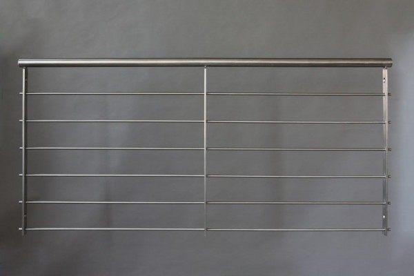 Franz. Balkon aus V2A Edelstahl mit 6 Relingstäben