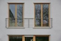 Französischer Balkone aus Edelstahl mit Reling Füllung