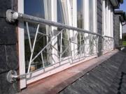franz. Balkon, verzinkter Stahl in Schmitzstruktur, Preis pro Meter