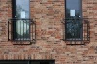 französische Balkone mit Stabfüllung, verzinkt und lackiert