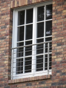 hübscher französischer Balkon aus Edelstahl