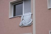 Französicher Balkon als Tasse aus feuerverzinktem Stahl