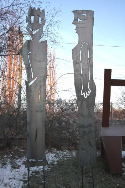 Gartenskulpturen aus Stahl, plasmageschnitten