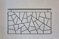 Geländer mit Schmitzstruktur, Handlauf aus Edelstahl