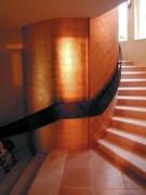 Geländer aus dickem Bandstahl