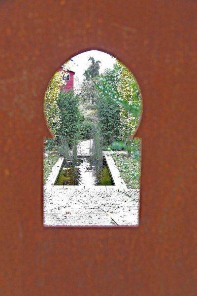 Fenster für ein maurisches Gartenzimmer