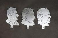 Gelaserte Portraits aus Stahl