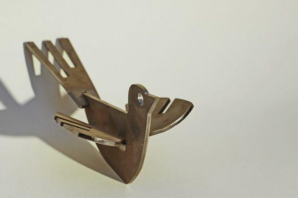 Vogel Skulptur zur Weiterverarbeitung durch Sie