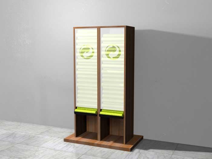 entwurf f r einen gelbe s cke spender aus holz f r. Black Bedroom Furniture Sets. Home Design Ideas
