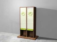 """Entwurf für einen """"Gelbe Säcke Spender"""" aus Holz für ein Rathaus"""