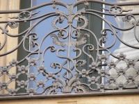 handgeschmiedetes barockes Balkongeländer nach historischem Vorbild, Preis per lfm
