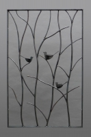 geschmiedetes Vogelgitter aus Rohstahl