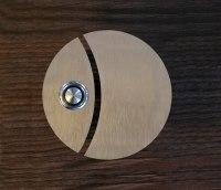 zweigeteilte Türklingel aus 3mm Edelstahl ohne Beschriftung