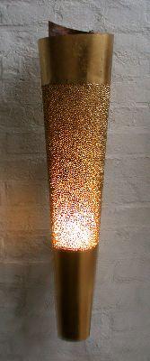 Vergoldete Leuchte aus Kupfer