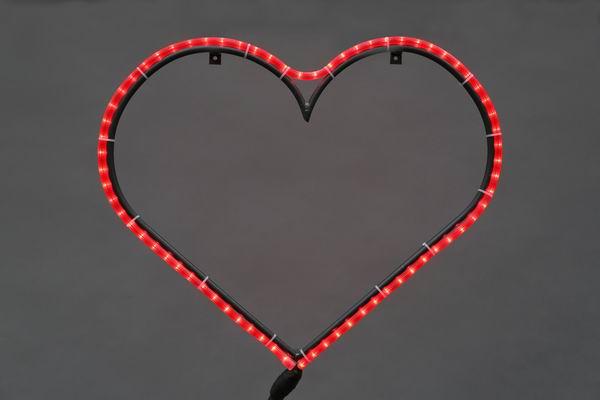 Großes leuchtendes Herz