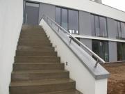 Treppenhandlauf aus geschweißtem Edelstahl