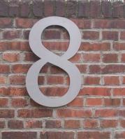 riesige Hausnummer mit 60 cm Höhe aus Edelstahl