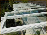 Verschiebbares Terrassendach aus Aluminium und Sicherheitsglas - Glasschiebedach