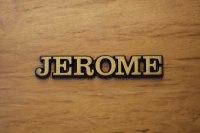 "Aluminium Schriftzug ""Jerome"""