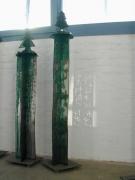 Tannenleuchter aus Stahlblech geschnitten