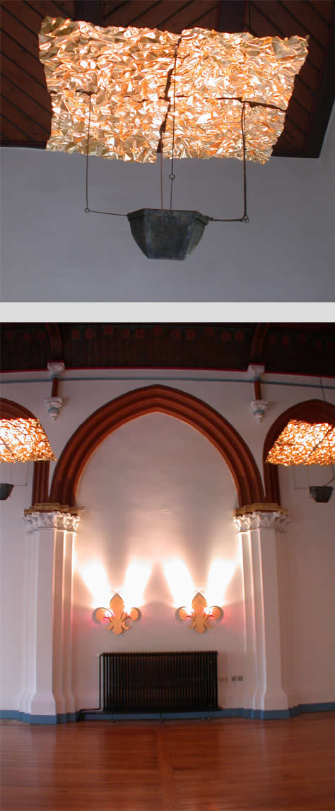 Deckenleuchten für die Kupferschmiede in Hildesheim - Kupfer vergoldet
