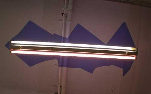 Deckenleuchte - Blaues Plexiglas