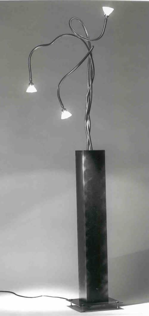 Leuchte - Stahlblech mit Schwanenhälsen