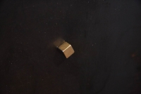 goldener Würfel Magnet für Ihre Metall Pinnwand, ein 10er Pack Magnete