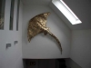 Manta aus Stahl - mit Schlagmetall vergoldet 3 x 2 Meter