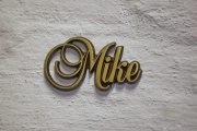 """Aluminium Schriftzug """"Mike"""""""
