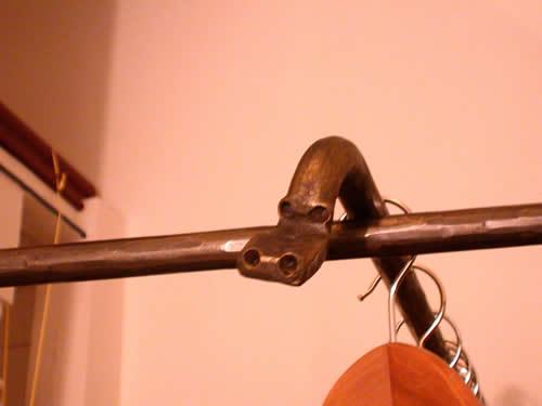 Garderobe aus Stahl geschmiedet
