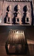 Tisch mit einer antiken, afrikanischen Kornspeicher Türe